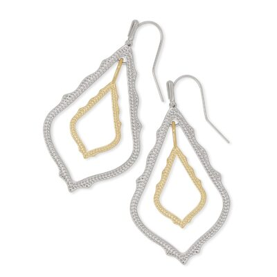 Simon Rhodium Gold Metal Mix Earrings