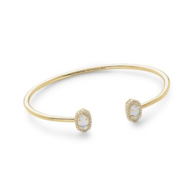 Calla Gold Metal Ivory Mother of Pearl Bracelet