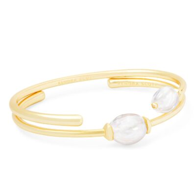 Amiya Gold Metal Baroque Pearl Bracelets