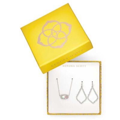 Gift Set Sophia and Elisa Rhodium Dichroic Glass