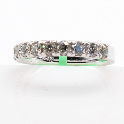 14K White Gold Band with .79ctw Diamonds