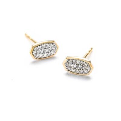 Marisa Stud Earrings in 14 Karat Yellow Gold with Diamonds