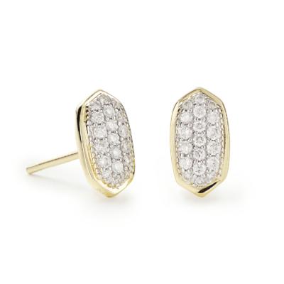Amelee 14 Karat Yellow Gold Diamond Stud Earrings