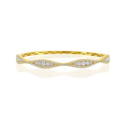 1.72ctw Yellow Gold Diamond Bangle