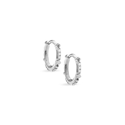 Jett 14Karat White Gold and Diamond Earring