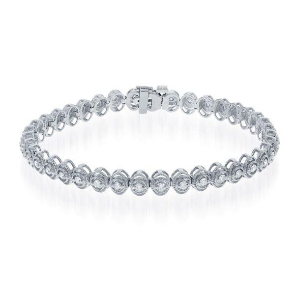 14KW Vintage 1.00ctw Diamond Bracelet