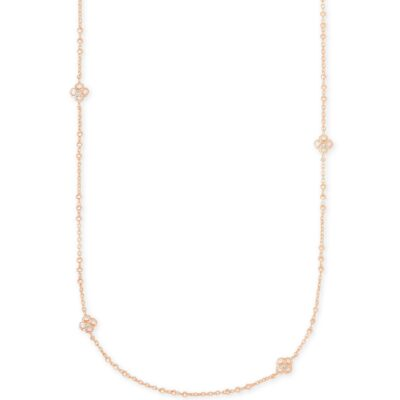 Rue Rose Long Necklace