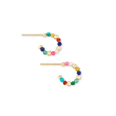 Scarlet Huggie Earring Gold Multi Color