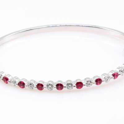 14KT Ruby and Diamond Bangle