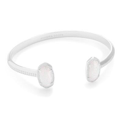 Elton Rhodium White Opal Bracelet