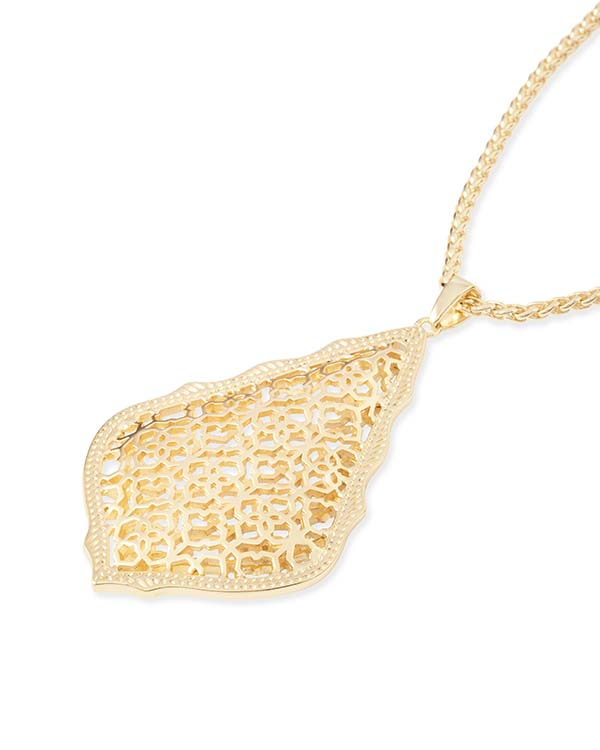 Aiden Gold Metal Necklace