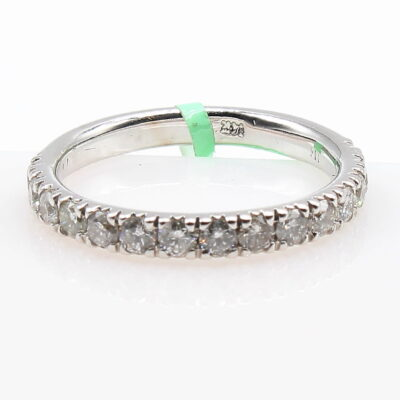 14K White Gold Band with .83ctw Diamonds