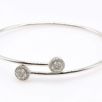 18KKT White Gold .36ctw Diamond Bangle