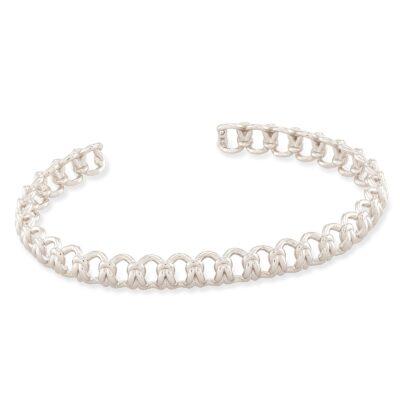 Fallyn Rhodium Small Cuff Bracelet