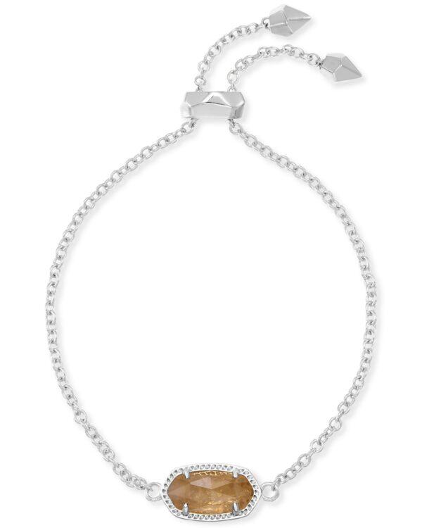 Elaina Rhodium Citrine Bracelet