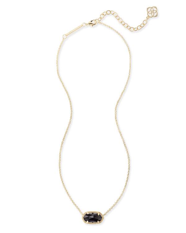Elisa Gold Black Necklace