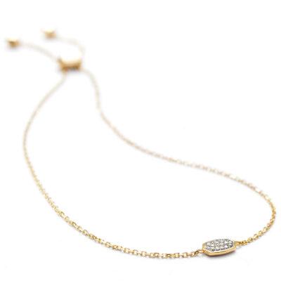 Millicent 14 Karat Yellow Gold and Diamond Bracelet