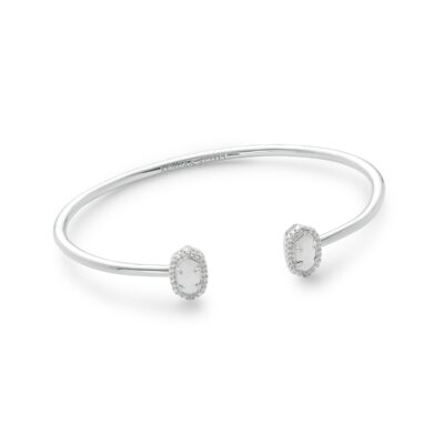 Calla Rhodium White Mother of Pearl Bracelet