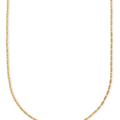 Lola Chain Necklace Vintage Gold Metal