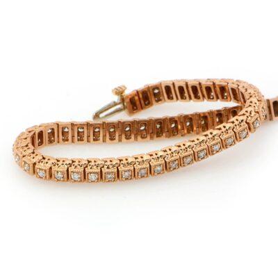 14KR Vintage 1.00ctw Diamond Bracelet