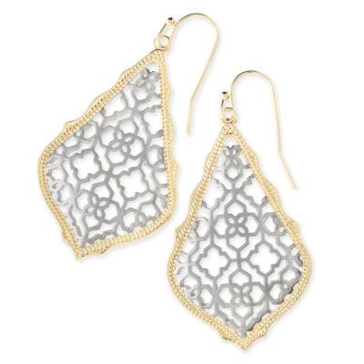 Addie Gold Metal and Rhodium Earrings