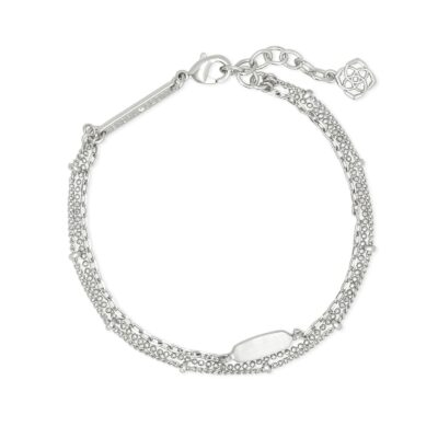 Fern Bright Silver Metal Multi Strand Bracelet
