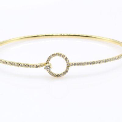 10K Yellow and White Gold Diamond Pendant