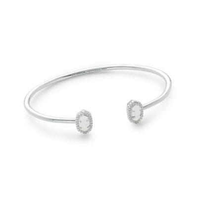Calla Rhodium Iridescent Drusy Bracelet