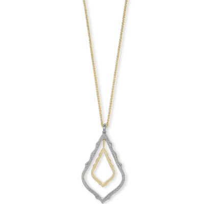 Simon Rhodium Gold Metal Mix Necklace