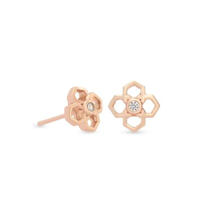 Rue Rose Stud Earrings