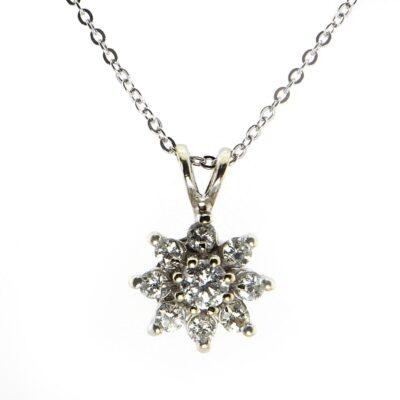 14KW .50ctw Diamond Pendant