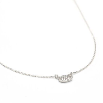 Marisa Pendant Necklace in 14 Karat White Gold with Diamonds