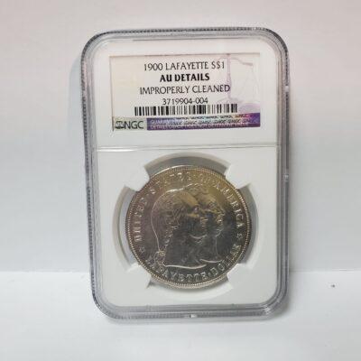 1900 Lafayette Commemorative Dollar NGC AU Details