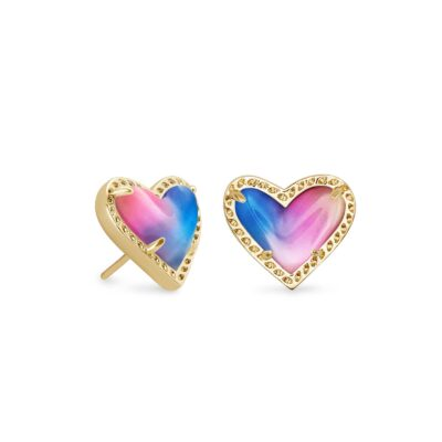 Ari Gold Metal Watercolor Stud Earrings