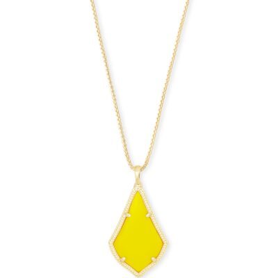 Alex Gold Metal Yellow Necklace