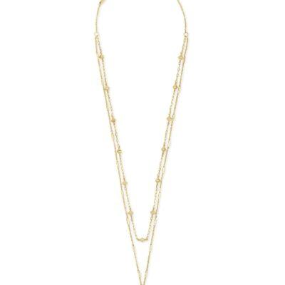 Clove Multi Strand Gold Metal Necklace