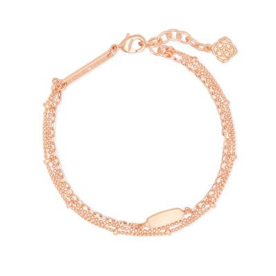 Fern Multi Strand Rose Bracelet