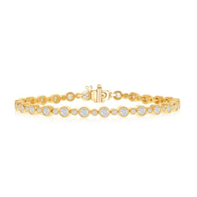 14KY 3.00ctw Diamond Tennis Bracelet