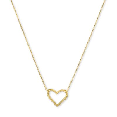 Sophee Heart Pendant Gold Metal