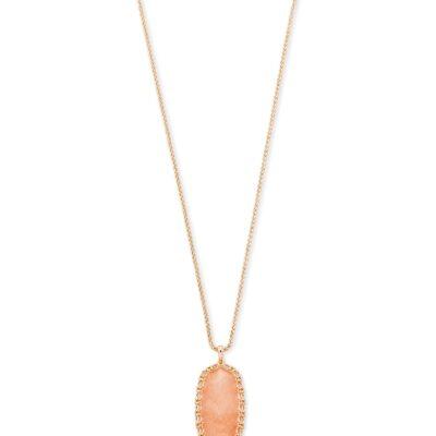 Reid Rose Macrame Blush Wood Necklace
