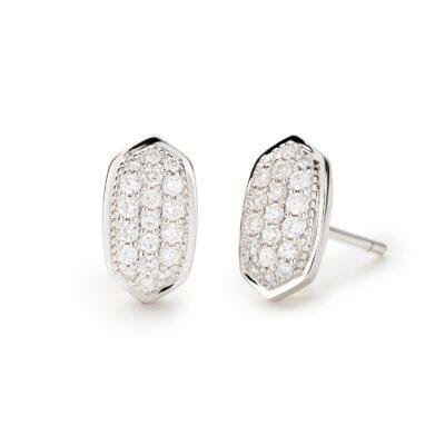 Amelee 14 Karat White Gold Diamond Stud Earrings