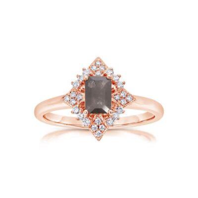 14KR Rough Cut Diamond Ring 0.65ctw