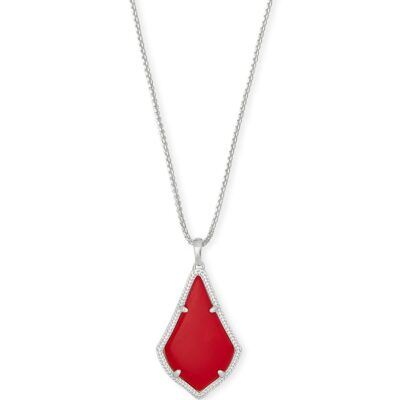 Alex Rhodium Bright Red Necklace