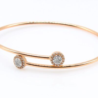 18KT Rose Gold 0.36ctw Diamond Bangle