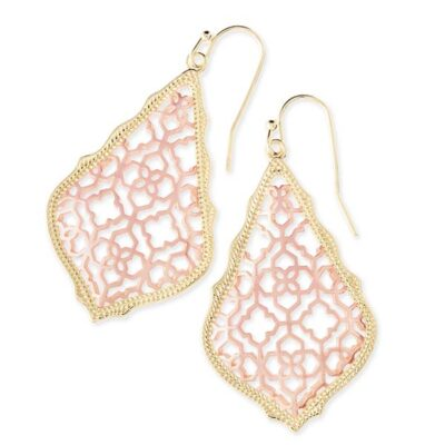 Addie Gold Metal and Rose Gold Earrings