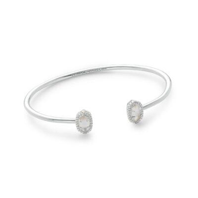 Calla Rhodium Ivory Mother of Pearl Bracelet