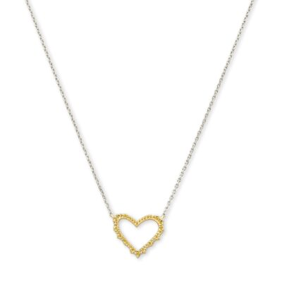 Sophee Heart Pendant Gold Metal and Rhodium