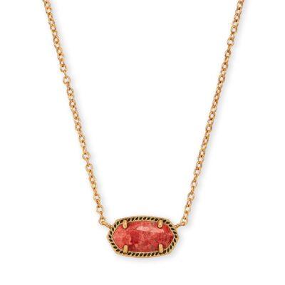 Elisa Necklace Vintage Gold Burnt Sienna Howlite
