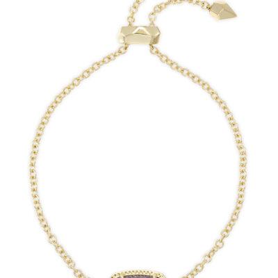 Elaina Gold Metal Purple Amethyst Bracelet