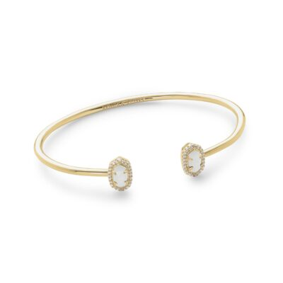 Calla Gold White Mother of Pearl Bracelet